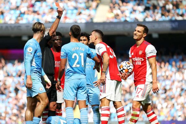 Xhaka was surprised to be sent off by a red card in the latest match.
